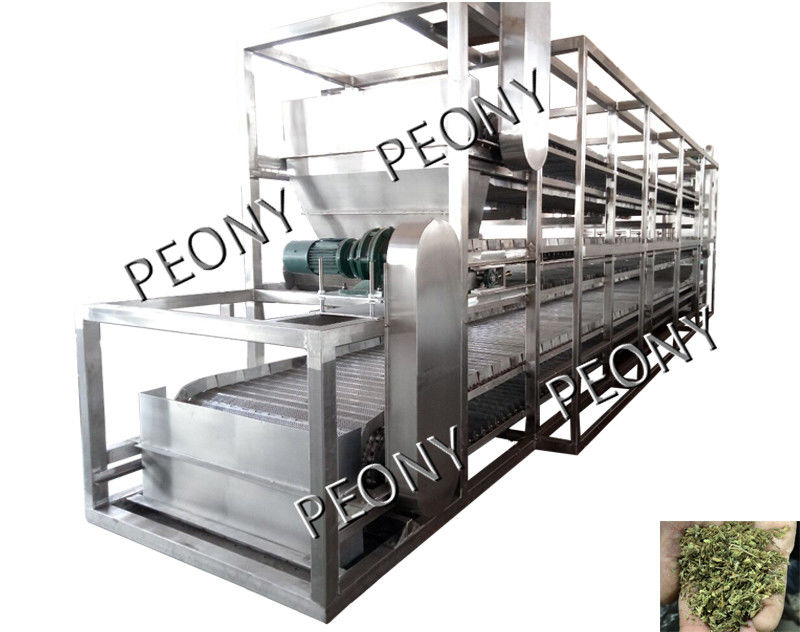 Continuous Heated Conveyor Belt Dryer Air Circulation Herbal Drying Machine